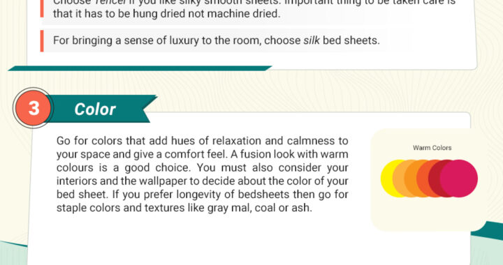 How to choose a perfect bed sheet for your Room?