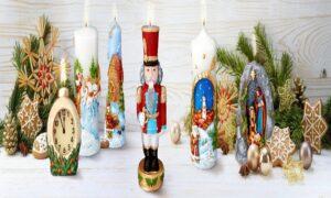 CHRISTMAS pillar candles