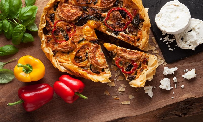 Roasted-Vegetables-Goats-Cheese-Quiche